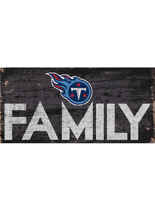 "Titans 6"" x 12"" Family Sign"
