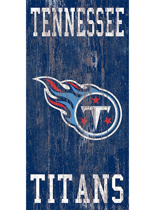 "Titans 11"" x 19"" Distressed Heritage Logo Sign"