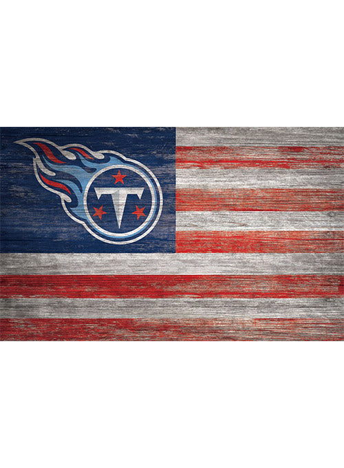 "Titans 11"" x 19"" Distressed Flag Sign"