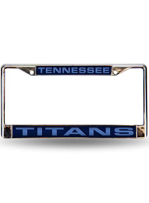 Titans Blue Laser Frame License Plate