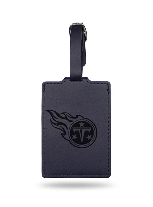 Titans Embossed Navy Luggage Tag