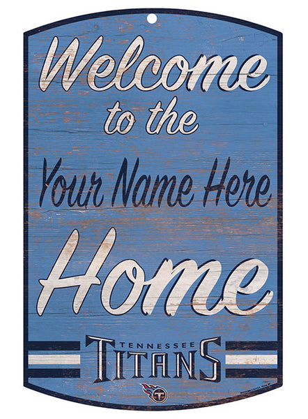 Titans Personalized 11'' x 17'' ''Welcome'' Sign