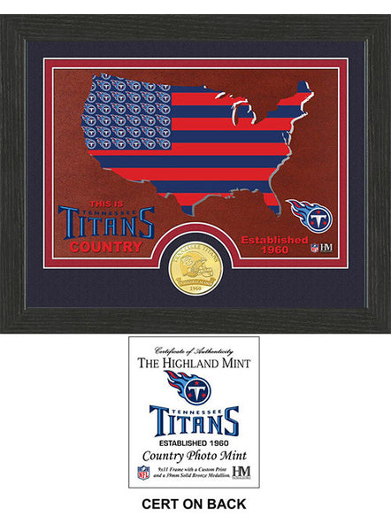 Titans Country Bronze Coin Photo Mint