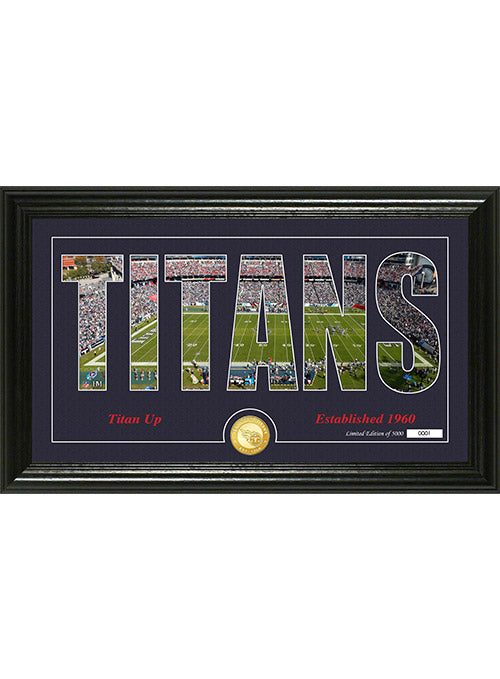 "Tennessee Titans ""Sihouette"" Panoramic Bronze Coin Photo Mint"