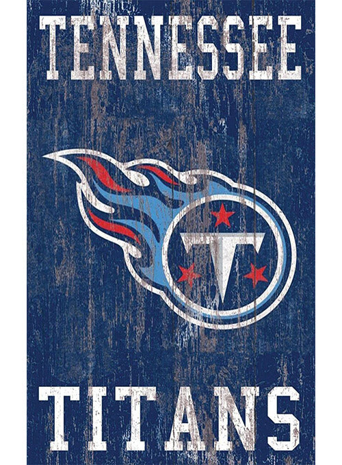 "Titans 11"" x 19"" Heritage Distressed Logo Sign"
