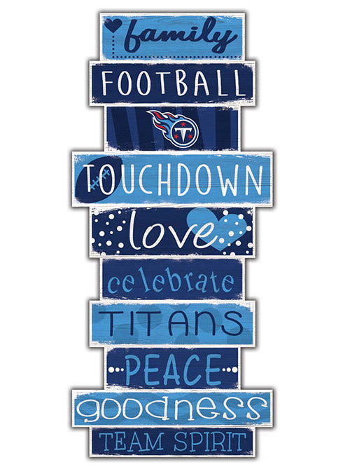"Titans 5"" x 24"" Celebrations Stack Sign"