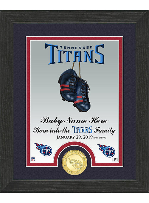 "Titans 9"" x 11"" Personalized Birth Right Photo Mint"
