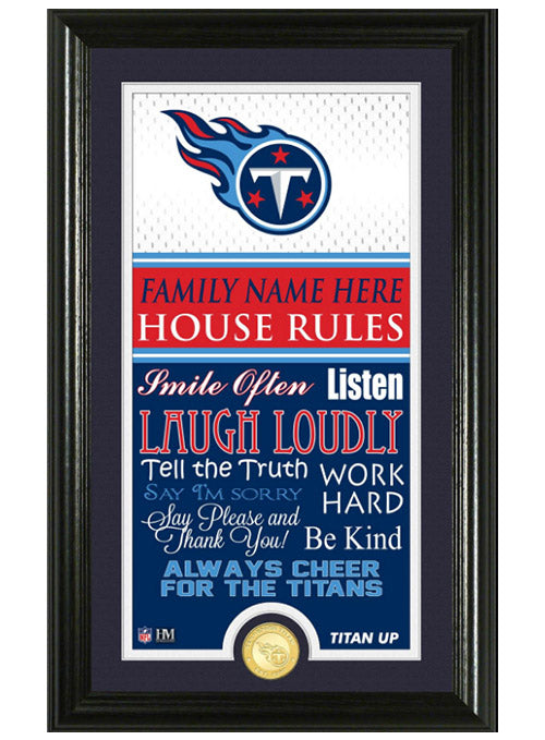 Tennessee Titans Personalized House Rules Photo Mint