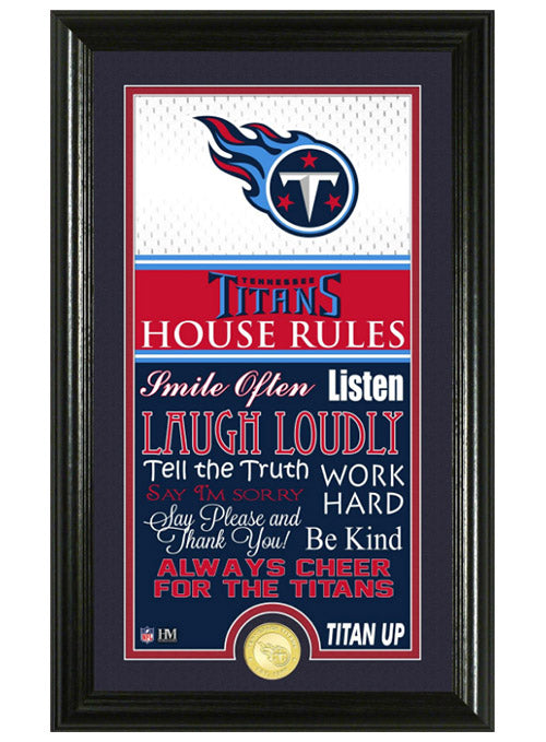 Tennessee Titans Jersey House Rules Supreme Photo Mint