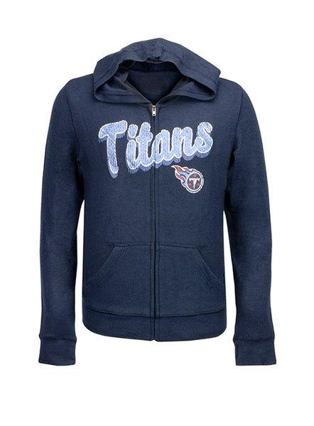 Outerstuff Girls Titans Full Zip Hooded Sweatshirt