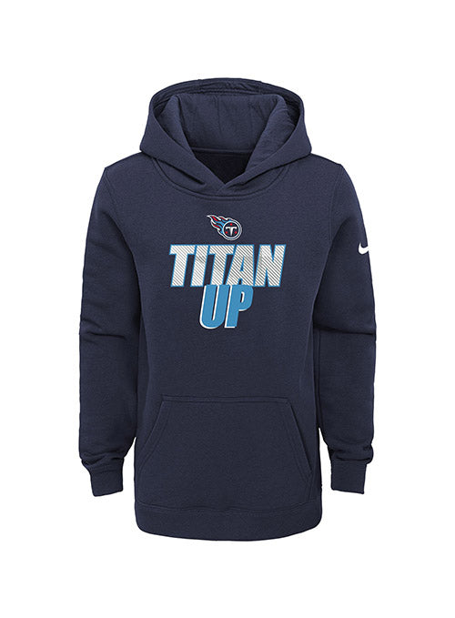 Youth Nike Titans Titan Up Verbiage Club Hooded Sweatshirt