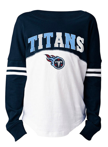 5th & Ocean Girls Titans Stripe Long Sleeve T-Shirt