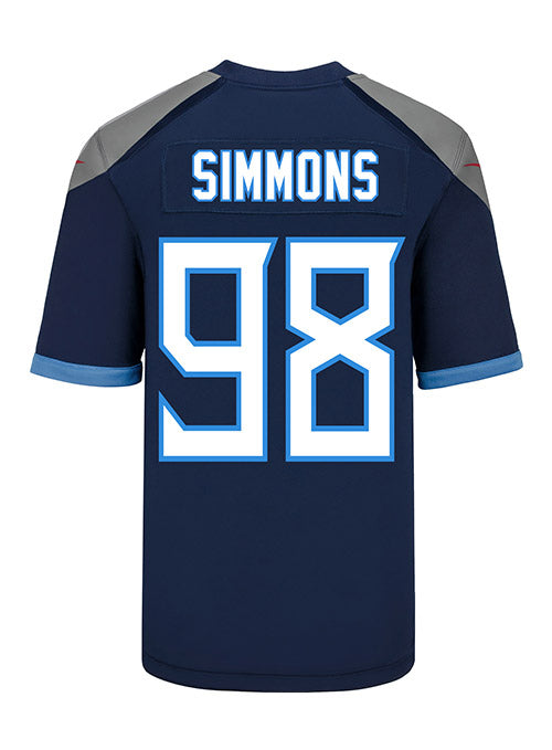 Youth Nike Game Home Jeffery Simmons Jersey