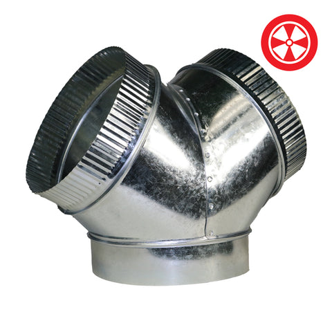 DL Y-Duct Connector - 6'' x 4'' x 4''