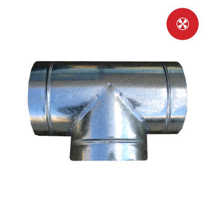"DL T-Duct Connector -4""-6""-8""-10""-12""-14"""