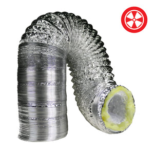 "DL 25' Insulated Ducting - Diameters 4""-6""-8""-10""-12""-14""-16"""