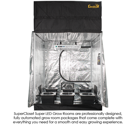 Image of SuperCloset SuperRoom 5′ x 5′ LED Grow Room