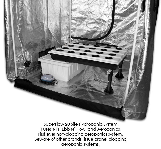 SuperCloset SuperRoom 5′ x 5′ LED Grow Room