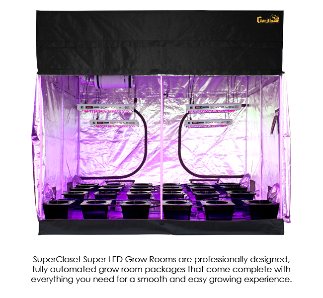 SuperCloset SuperRoom 9′ x 9′ LED Grow Room
