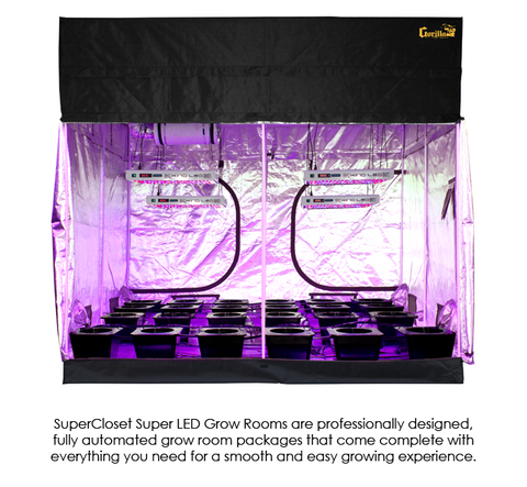 Image of SuperCloset SuperRoom 9′ x 9′ LED Grow Room