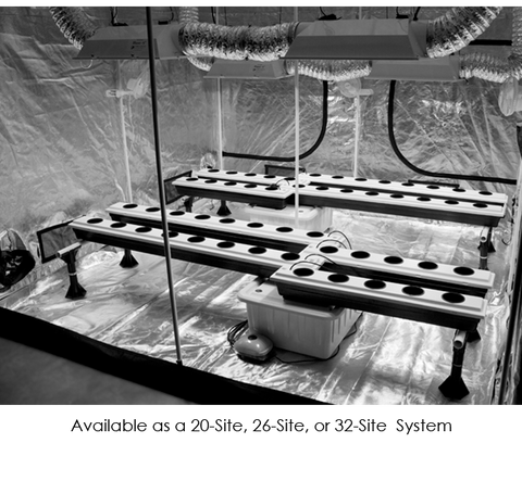 Image of SuperPonics 26-Site Super Flow Hydroponic Grow System