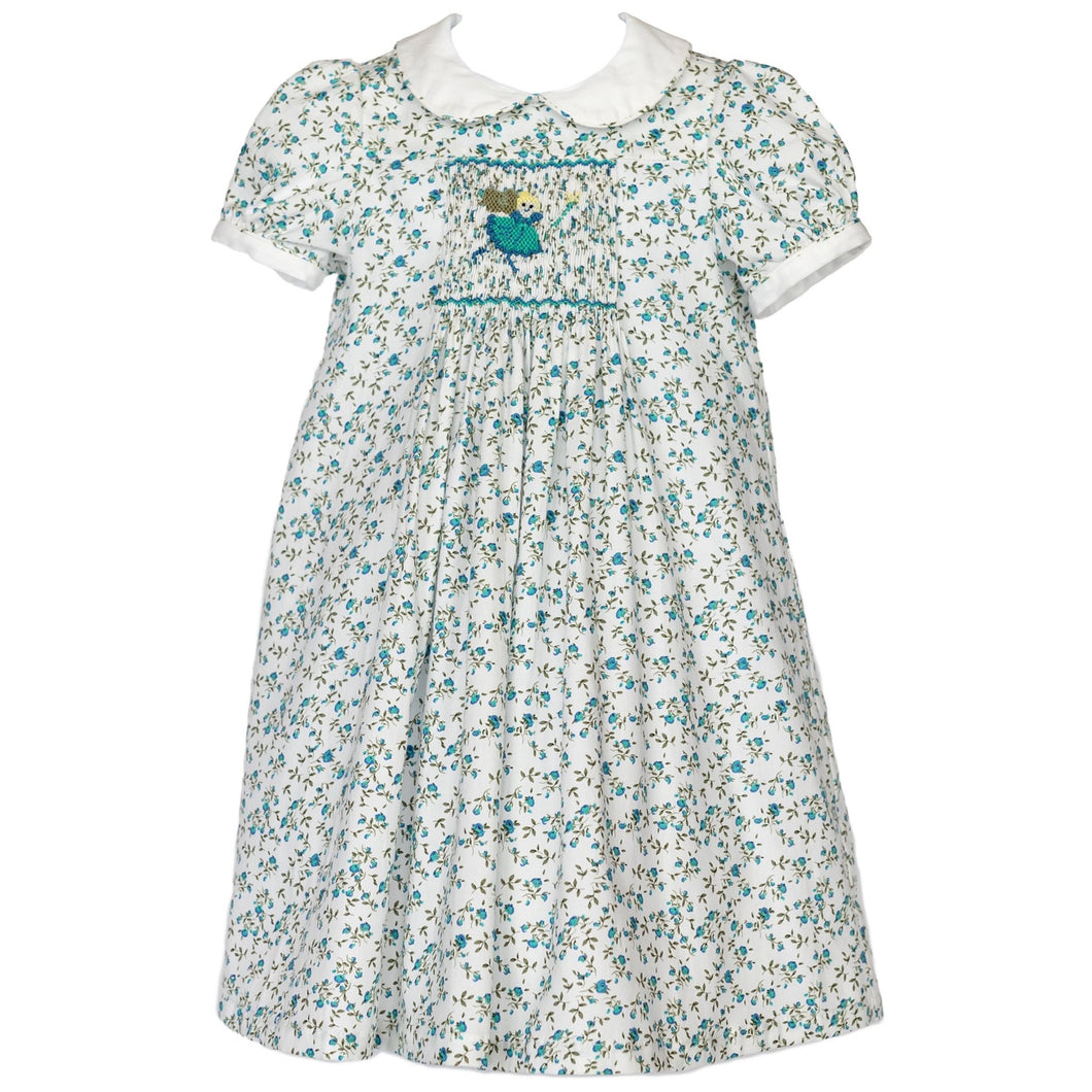 Smocked Blue Fairy Dress