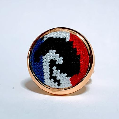 French Flag Jumper Needlepoint Ring