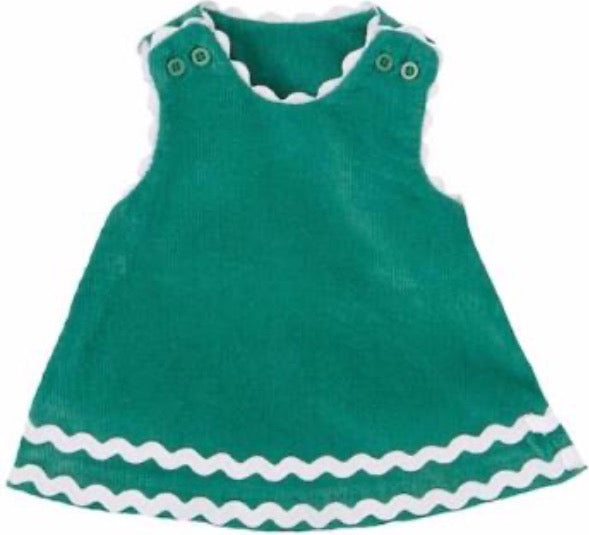 Green Ric Rac Doll Dress