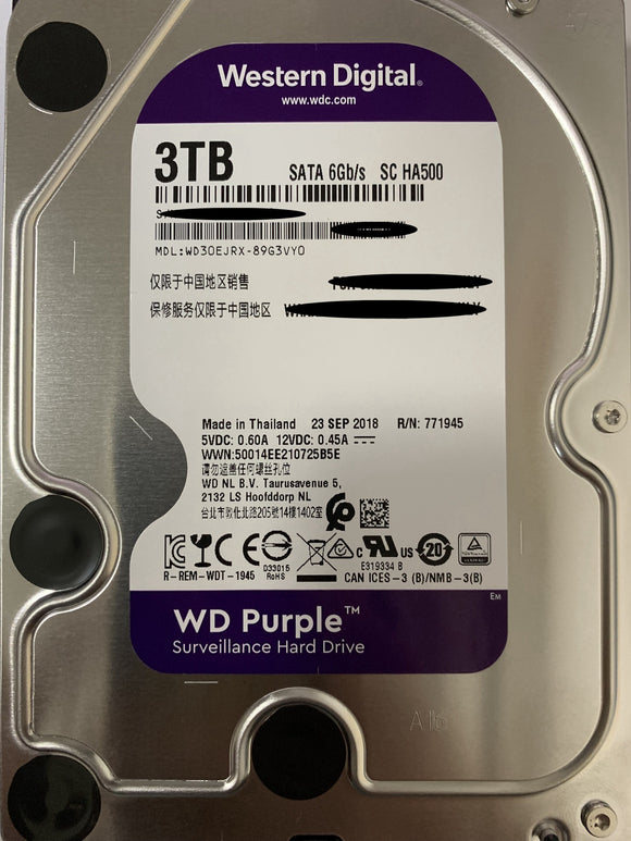 3TB (WD30PURX) WESTERN DIGITAL WD Purple  3.5