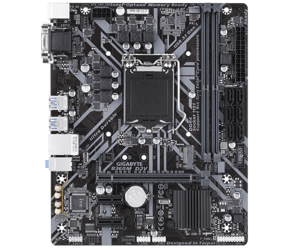 Gigabyte GA-B360M-Power/D2V Motherboard 1151 Supports 9th and 8th Gen Intel DDR4