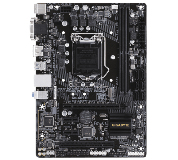 Gigabyte Technology GA-B250M-HD3 Motherboard 1151 ddr4 M-ATX B85 usb3.0 HDMI