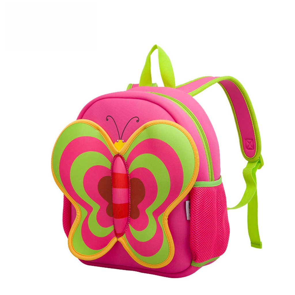 3D Butterfly Kids Waterproof School Bags