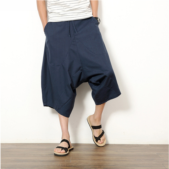 Men's Cotton Linen Hip-hop Harem Pants