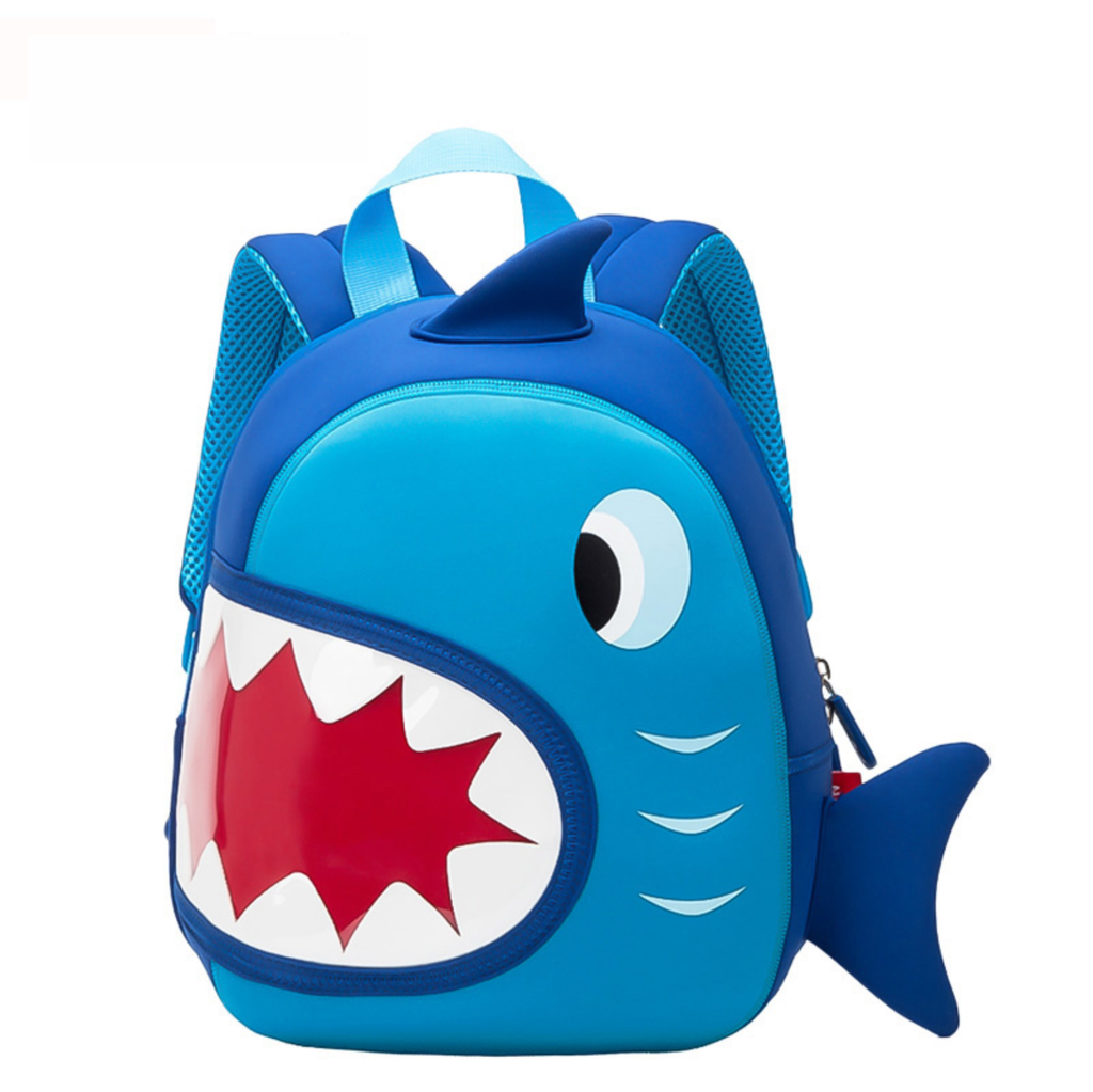 3D Shark 2 School Waterproof Backpacks