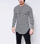 Streetwear Striped Tees