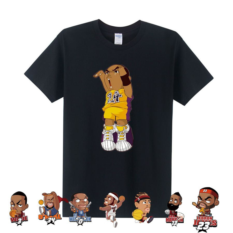 Cartoon Basketball Stars Tee (FREE Worldwide Shipping)