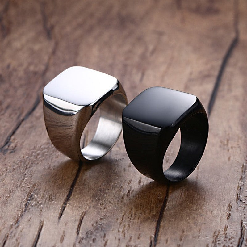 Men's Black Rock Punk Rings