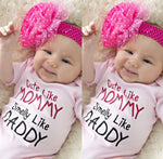 Cute Like Mommy Short-sleeve One Piece for Babies