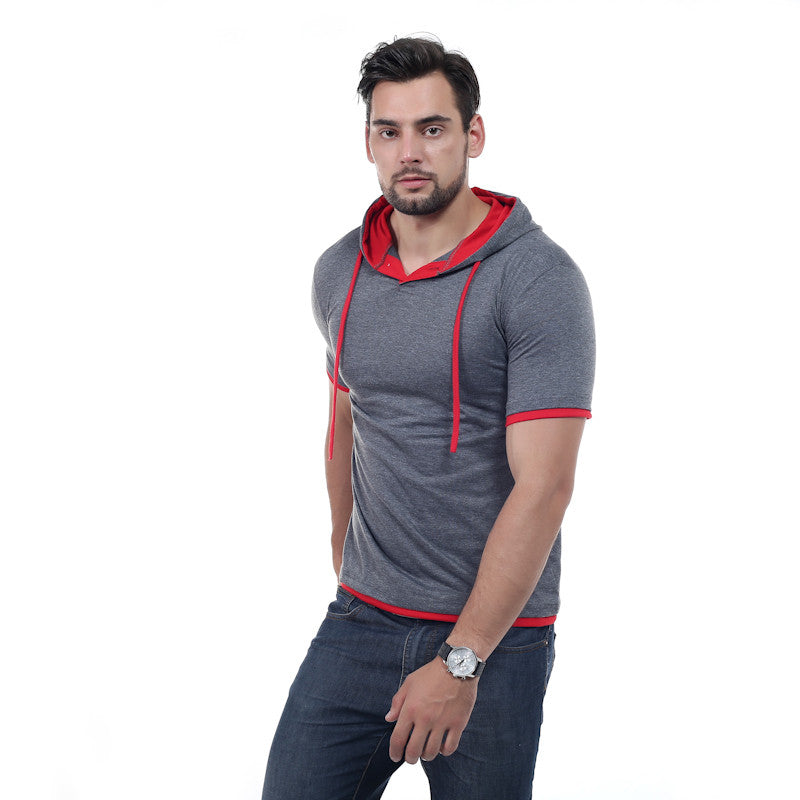Summer Hooded Sling Short-Sleeved Tees