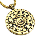12 Zodiac Sign Gold Necklace
