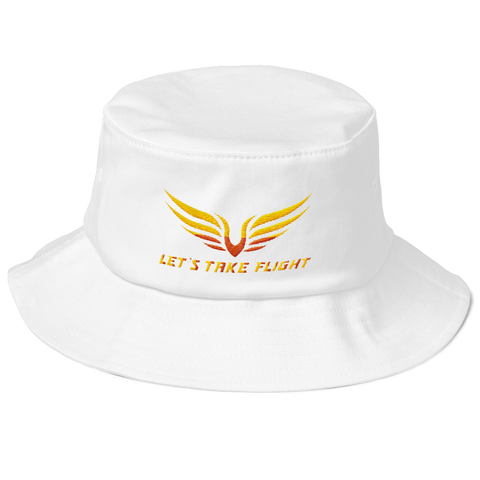 Lets Take Flight Old School Bucket Hat