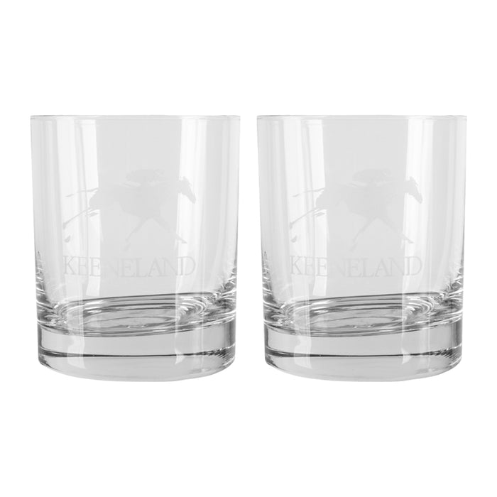 Keeneland Logo Rocks Glass Set