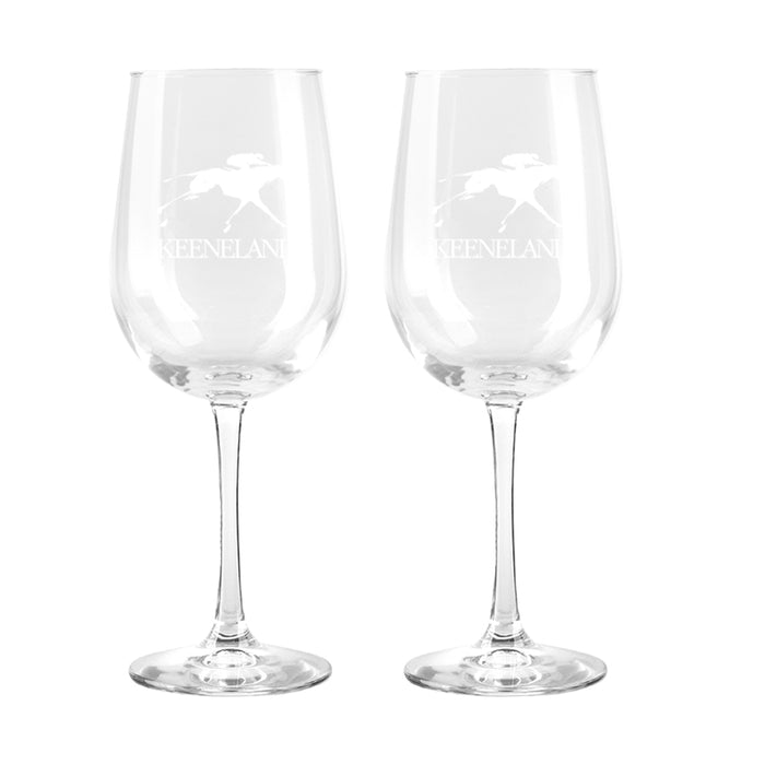 Keeneland Logo Wine Glass Set