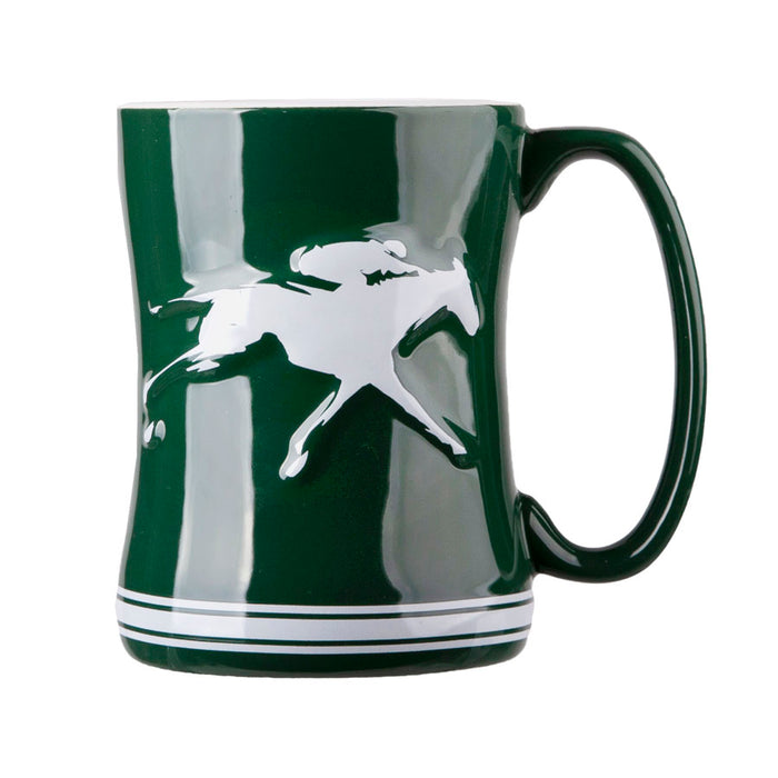 Keeneland Sculpted Coffee Mug