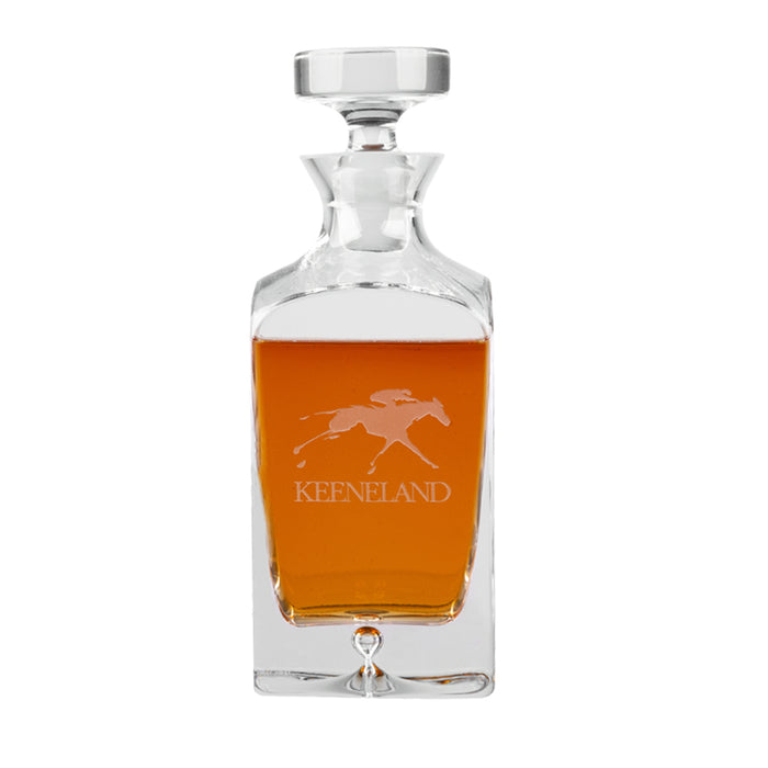 Keeneland Deluxe Square Decanter