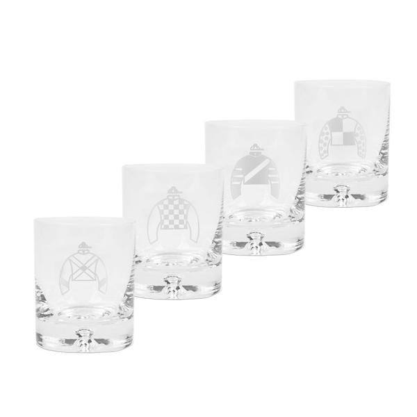 Silks Rocks Glass Set/4