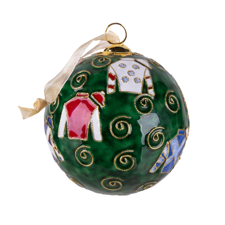 Kitty Keller Keeneland Jockey Silks Ornament