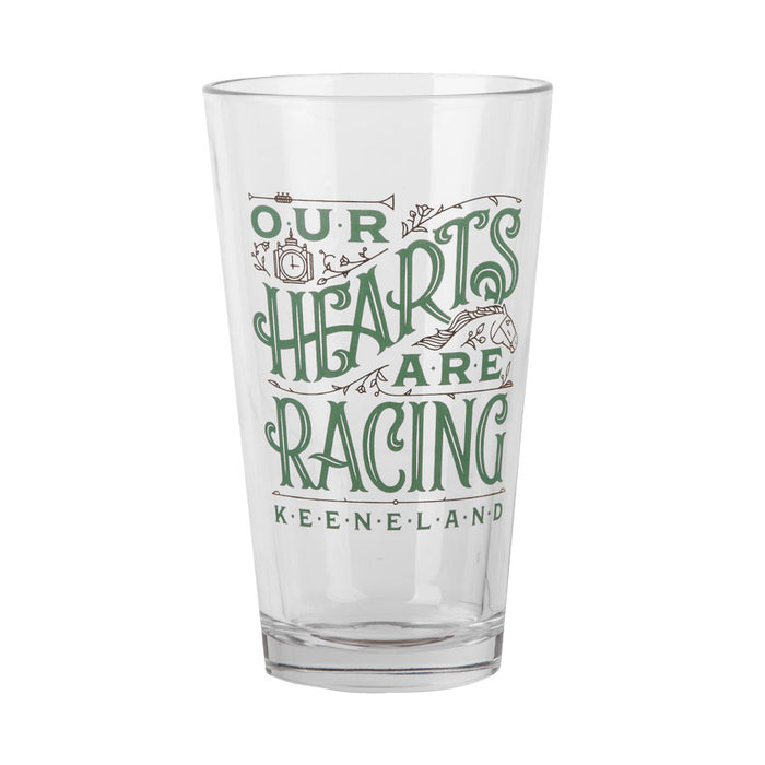 Our Hearts Are Racing Pint Glass
