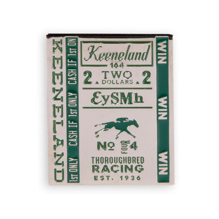 Keeneland Winning Ticket Lapel Pin