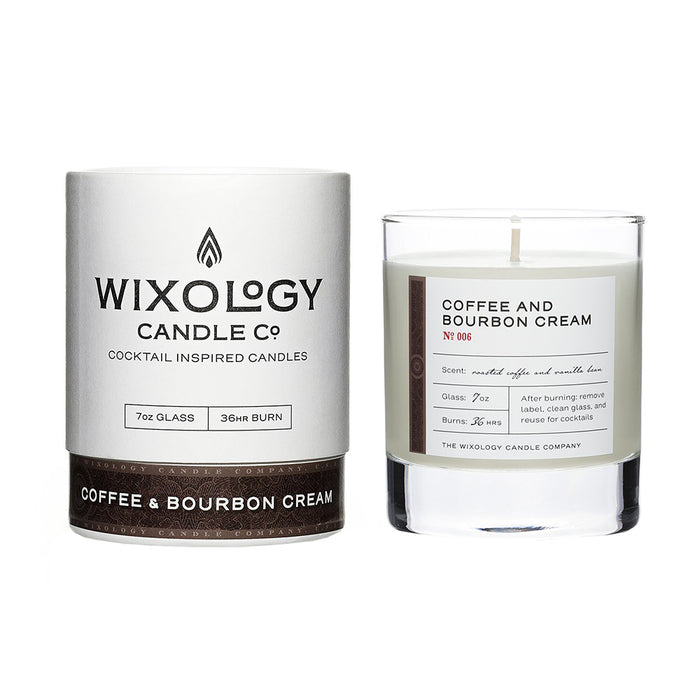 Wixology Coffee & Bourbon Cream Candle